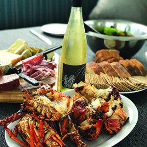 Crayfish lunch on board Odalisque