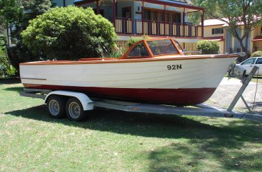 Classic 1950 Timber Speed Boat