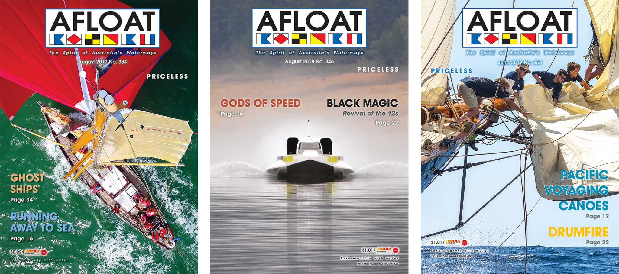 AFLOAT Magazine Covers