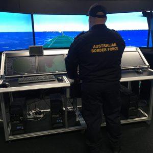 AU Border Force employee Scott Bickford in training at TAFE NSW Newcastle