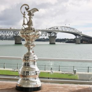 America's Cup Trophy in Auckland