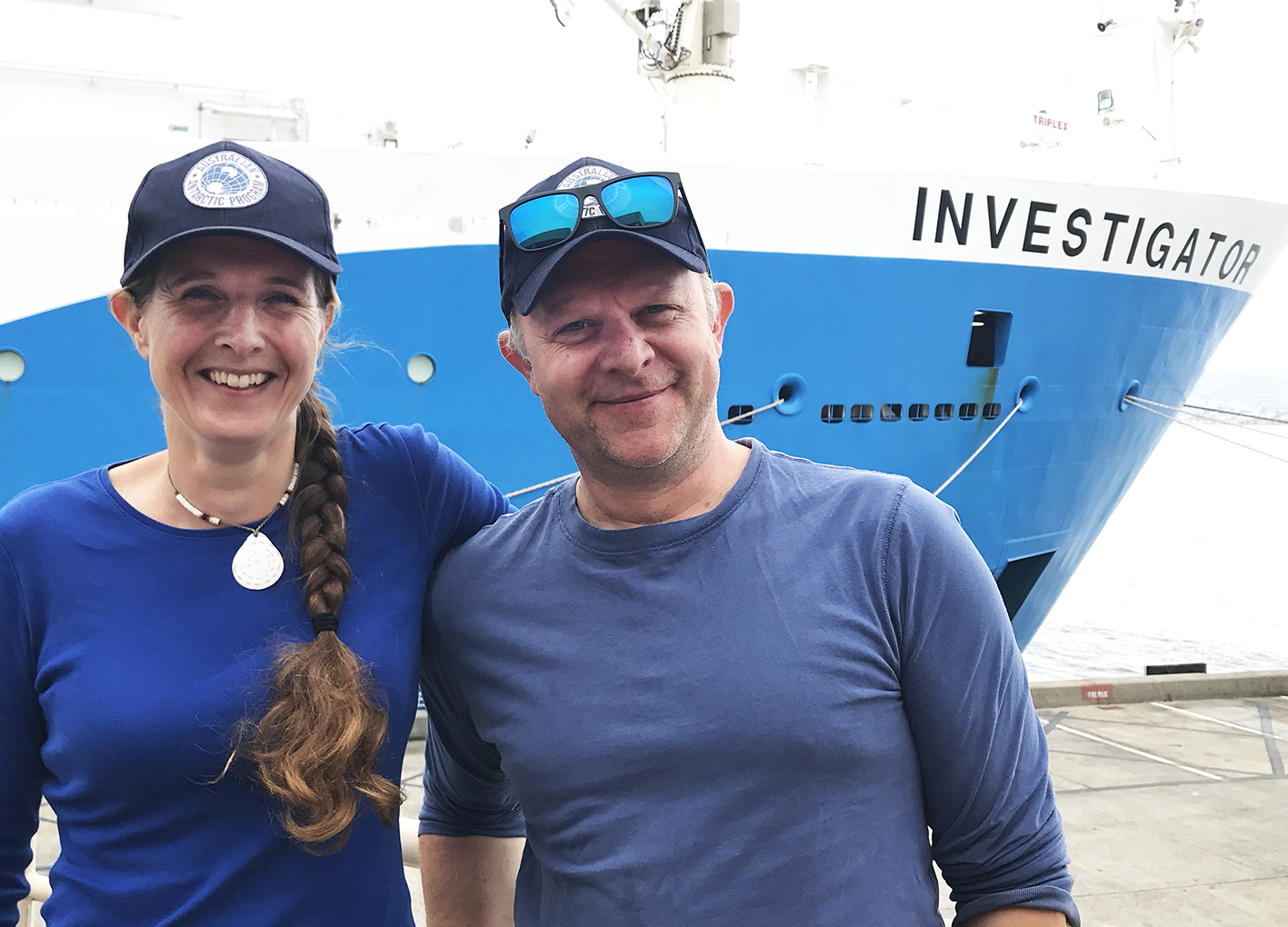 Elanor Bell and Mike Double joining Investigator's whale voyage 2019