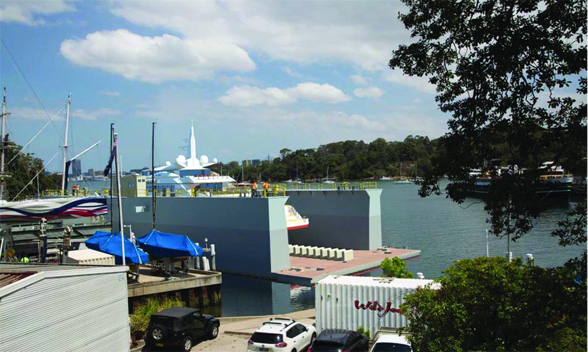 Noakes Berrys Bay Drydock raised
