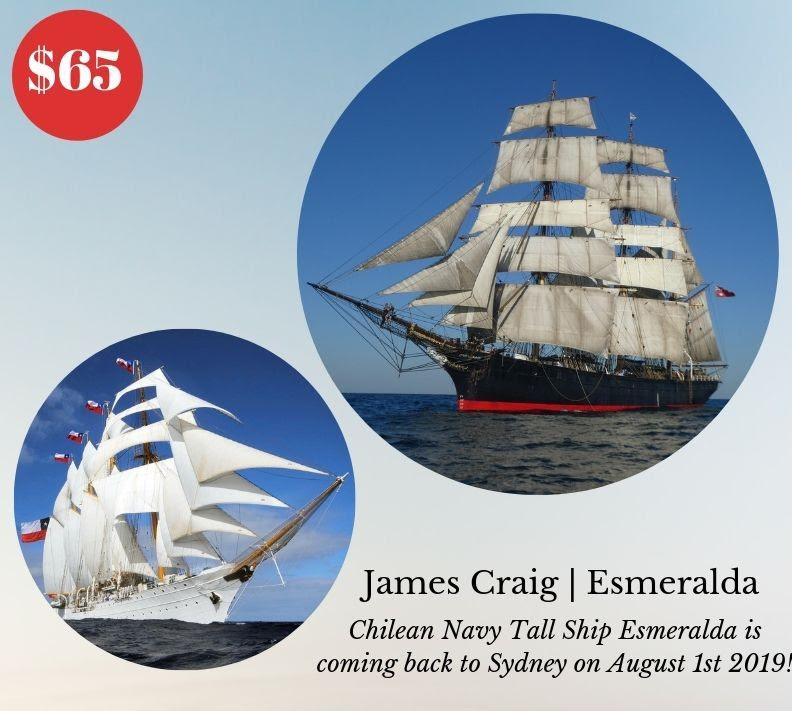 Sydney Heritage Fleet James Craig and Esmeralda Cruise