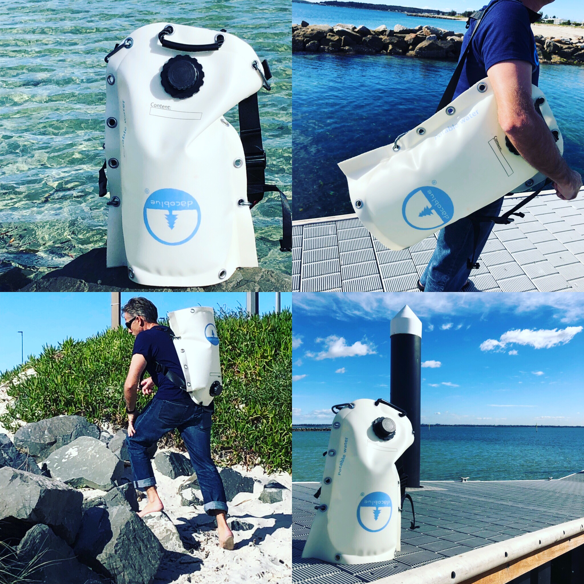 Dacoblue Flexible Jerry Can Backpacks for Camping Sailing and Adventure From Ocean Active