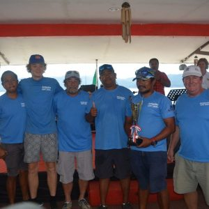 The crew of Antipodes, winners of the IRC division