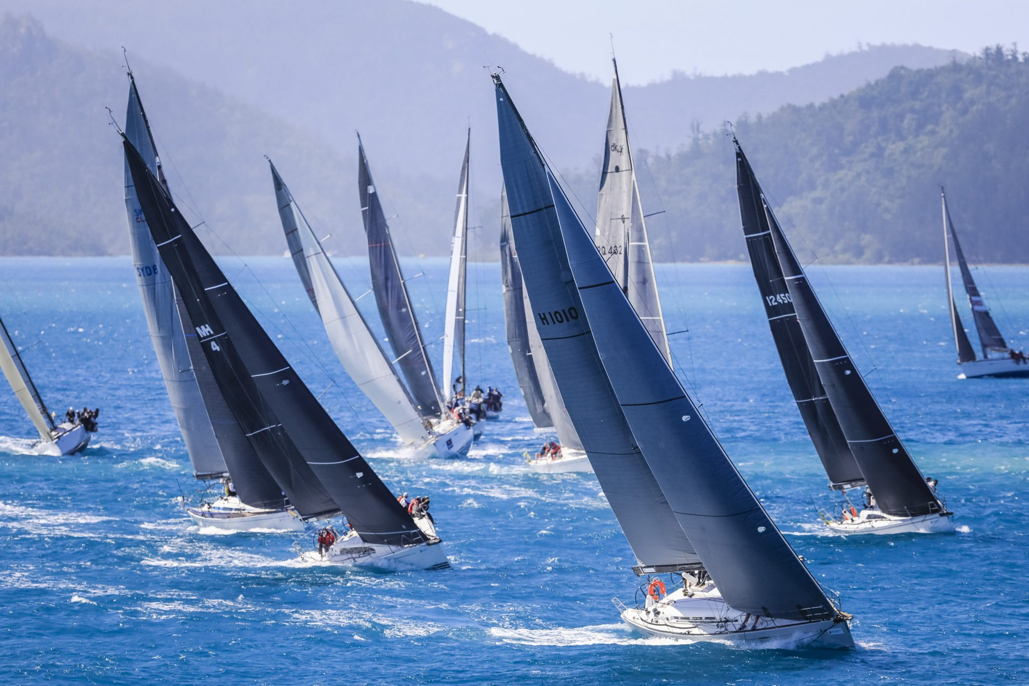 Hamilton Island Race Week punching upwind on day 3