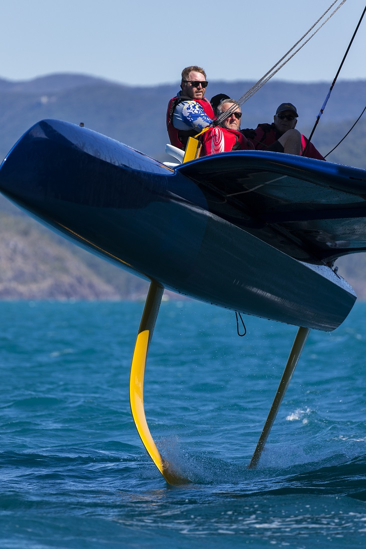 Airlie Beach Race Week 2019 Mad Max at full foil