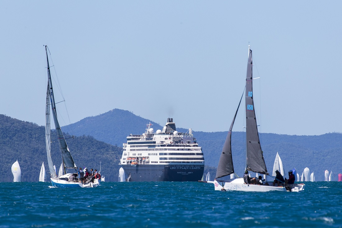 Airlie Beach Race Week 2019 - Pacific Aria treated her guests to a spectacle. (Photo Andrea Francolini)