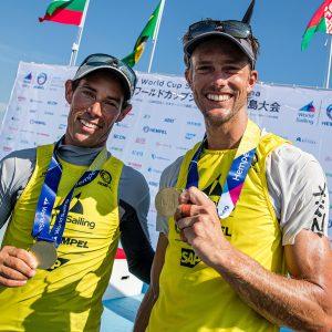 Gold Medal winners Mat Belcher and Will Ryan