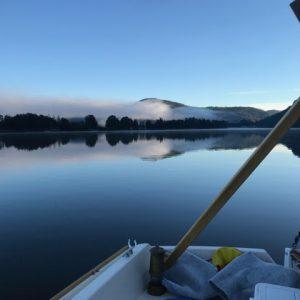 Cygnet 20 Raid Fog and calm on the river