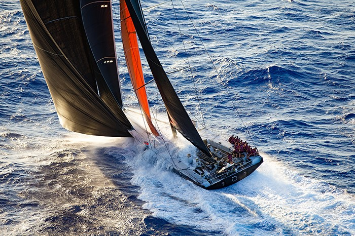 Jim Cooney's Comanche aiming for the Barn Door Trophy in the Transpac Race 2019