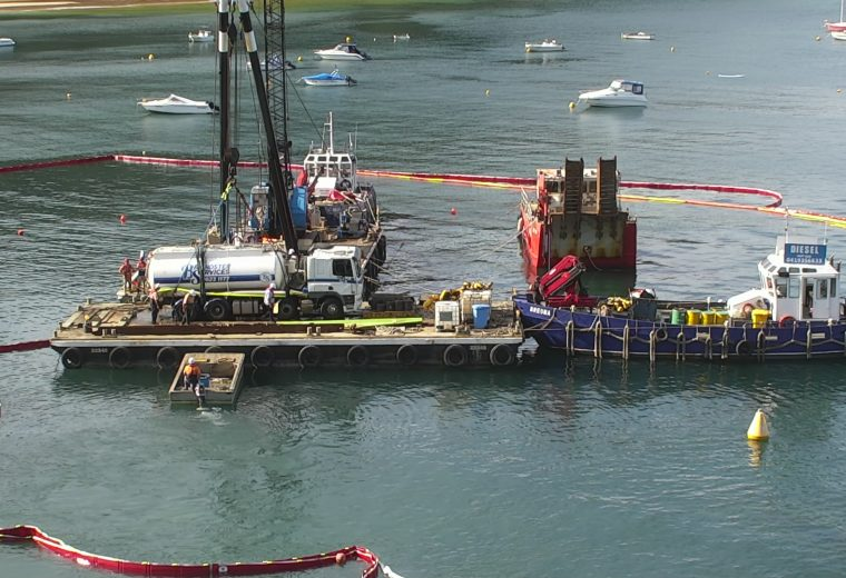 Sewage truck removed intact from seabed at Pittwater