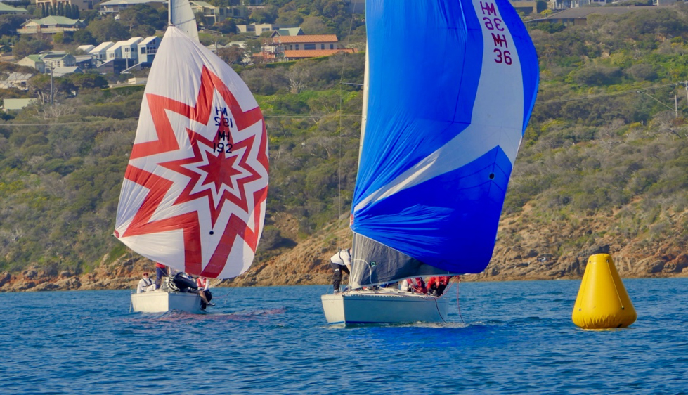 Waitangi Cup Patrick Delany chasing Geoff Charters to the finish