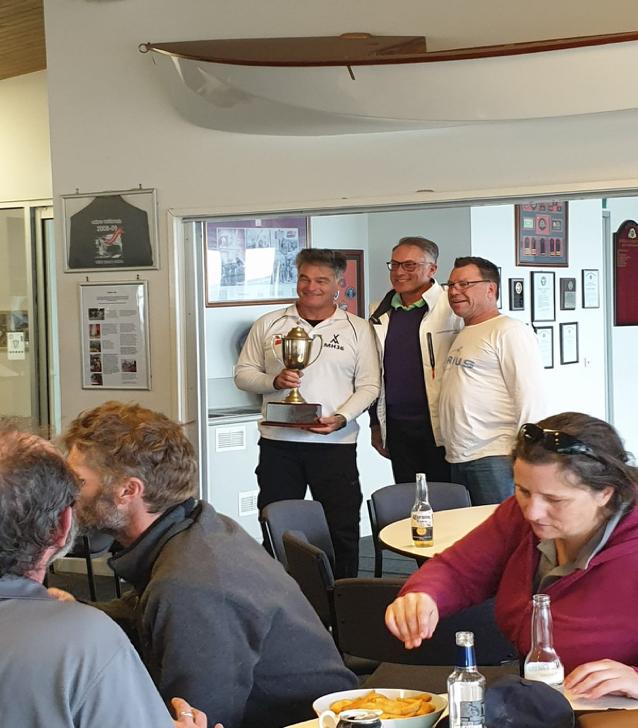 Waitangi Cup Winners - MHYC - Geoff Charters, Patrick Delany, Garth Riley