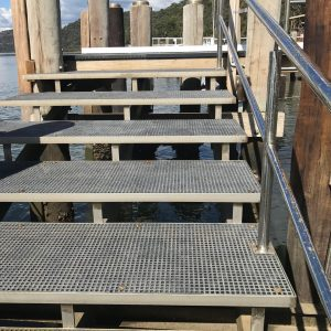 Hornsby Council Mini Mesh stainless steel stairs Milsons Passage