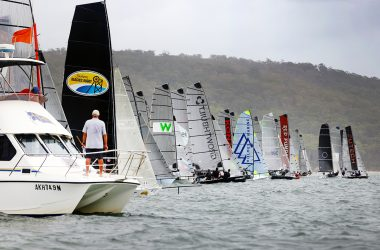 Light and tight racing brings surprise results at 16ft Skiff Nationals