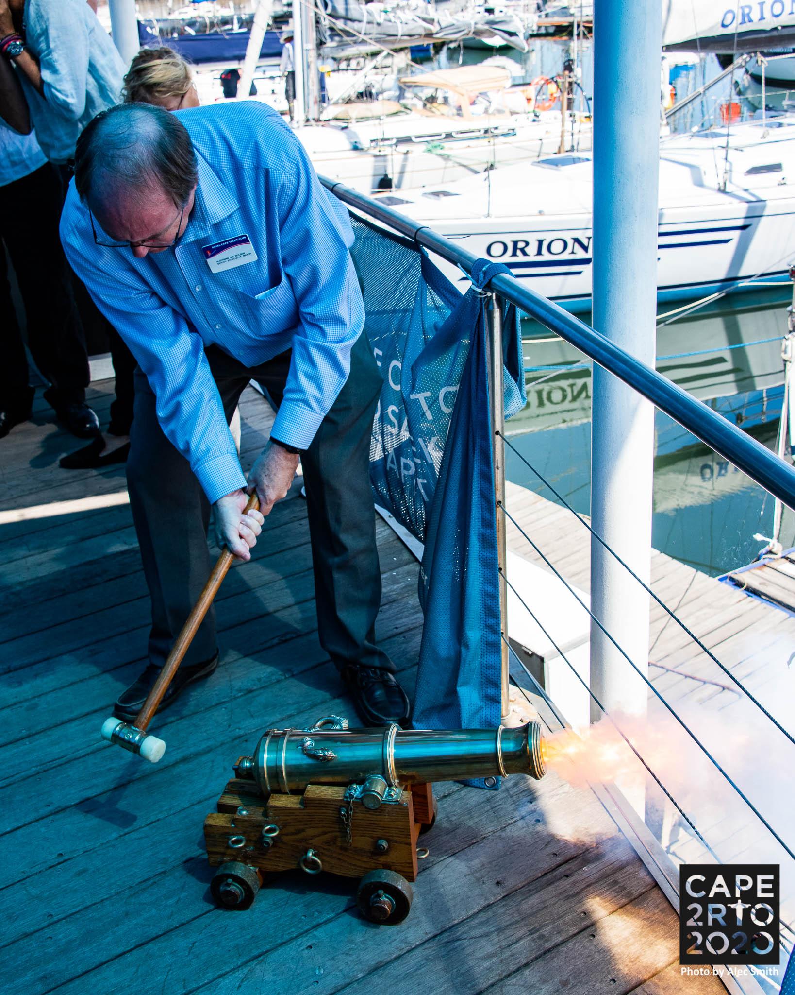 Cape2Rio 2020 yacht race starter's cannon
