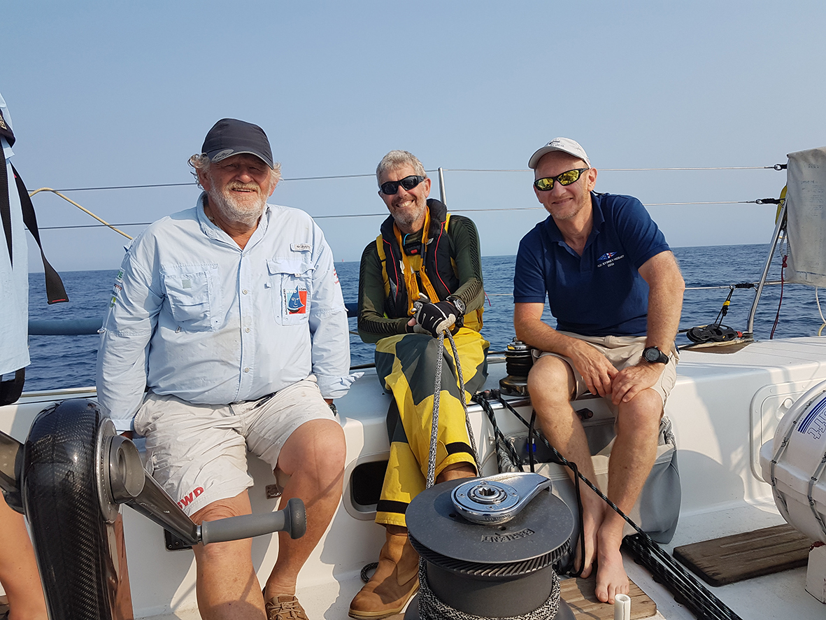 SWD founder David Pescud and crew