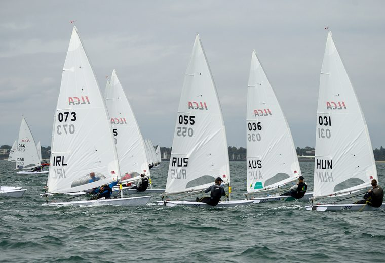 Australian Sailing Squad Member Finn Alexander Leads Laser Worlds on Day One