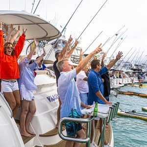 It's official, a new record, and Riviera's New Zealand family celebrates the best way possible aboard their Riviera luxury motor yachts