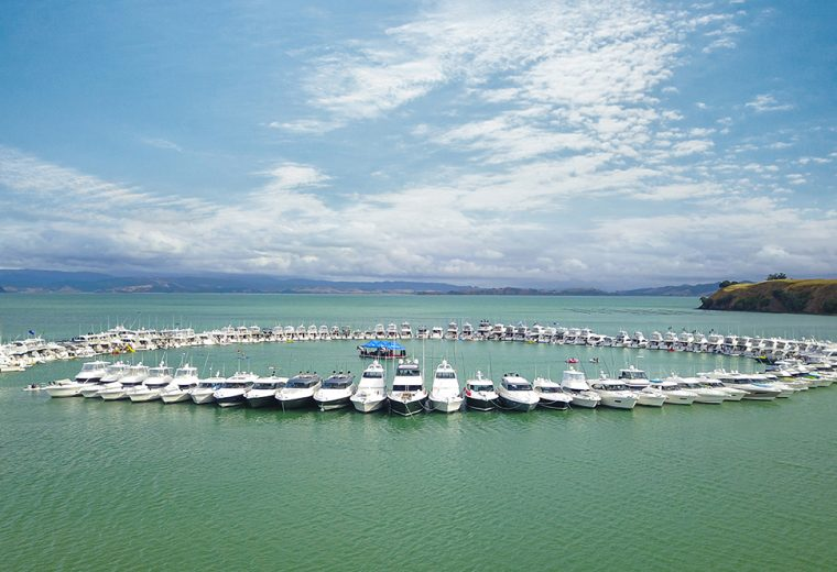 Record raft-up in New Zealand launches Riviera's 40th anniversary