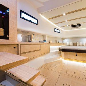 Genova, Italy - 22 September 2017 - Pardo Yachts Pardo 43 interior ìPh: Guido Cantini