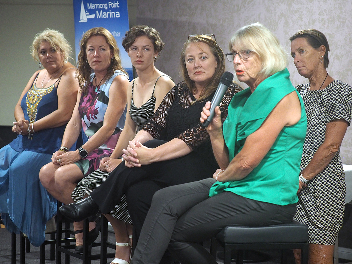 Heaven Can Wait Charity Sailing Regatta Charity Dinner featured a panel of 5 women