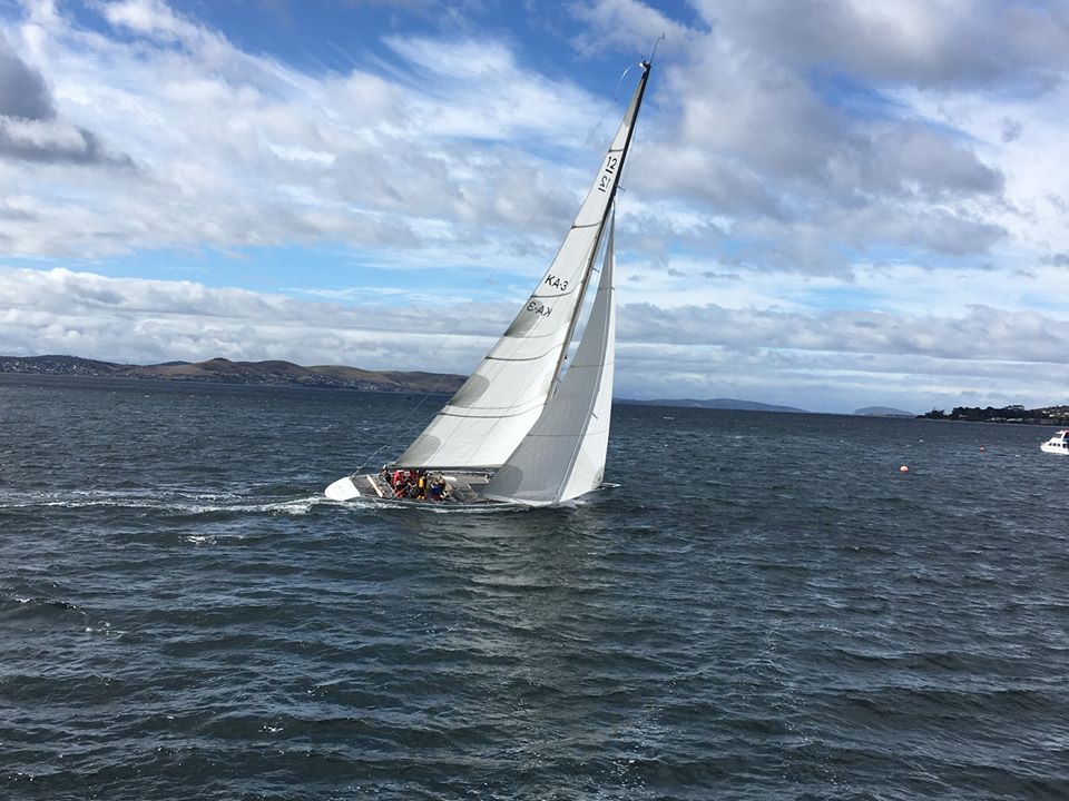 Port Cygnet Regatta 2020 Gretel II in race one