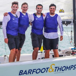 Harry Hall, Nick Rozenauers, Louis Schofield and James Hodgson - Harken 2020 Youth Match Racing World Championship - Image (c) Andrew Delves