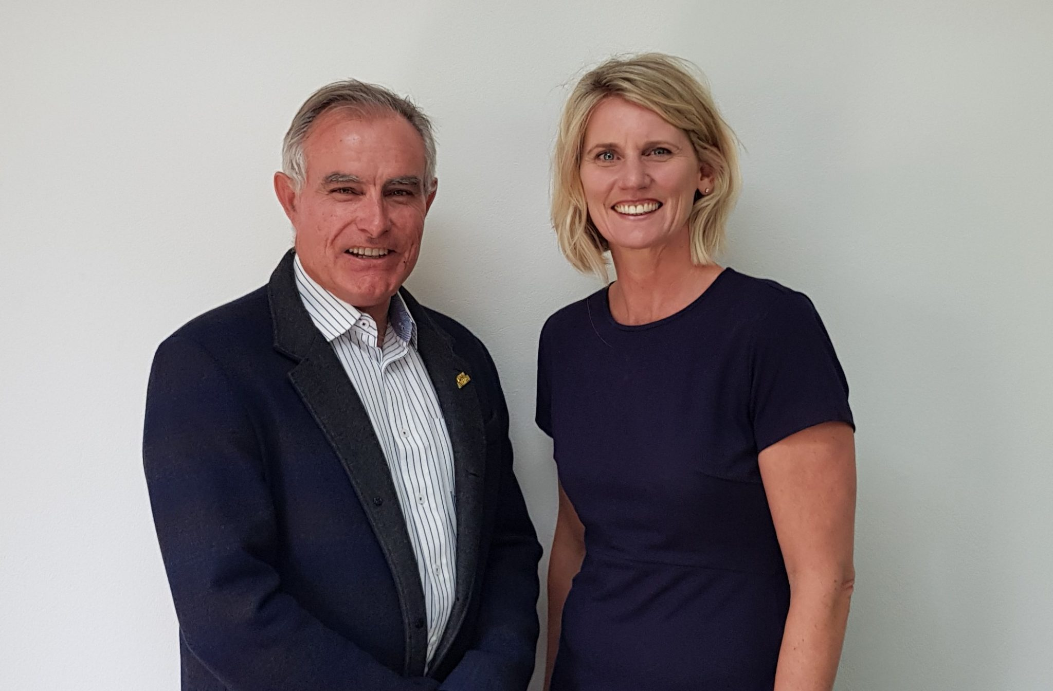MIA Chairman Andrew Chapman and new CEO Suzanne Davies