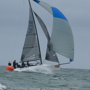 Melges 24 Nationals - Dave Alexander and his team on The Farm came away with third place overall