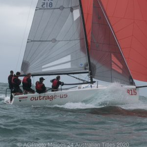 Melges 24 Nationals - Silas Nolan and the team on Outrage-Us had a few good sends