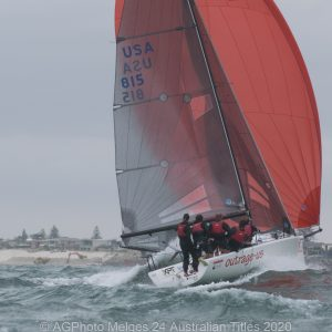 Melges 24 Nationals - There were some big waves on the final day as well as strong winds