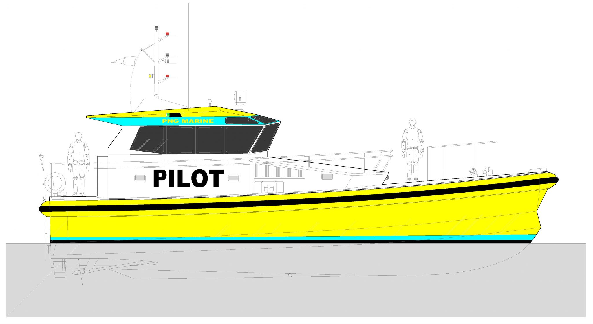 Norman R. Wright & Sons Pilot Boat Design for PNG Ports Corporation