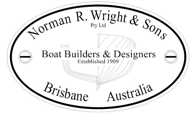 Norman R. Wright & Sons builder's plate