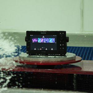 Raymarine testing - water splash