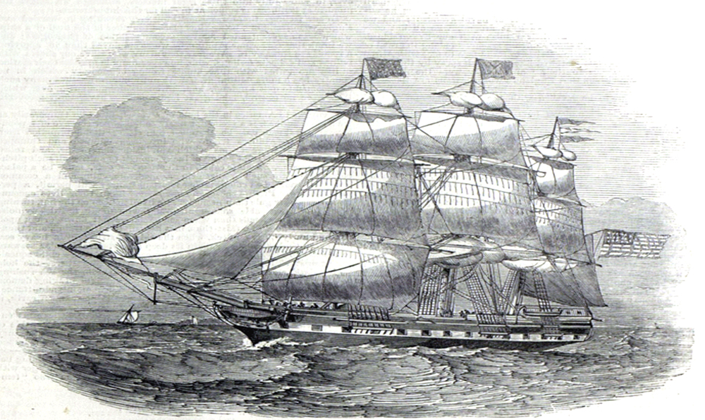 The Spirit of Sailing and The Sea - American Packet Ship Devonshire