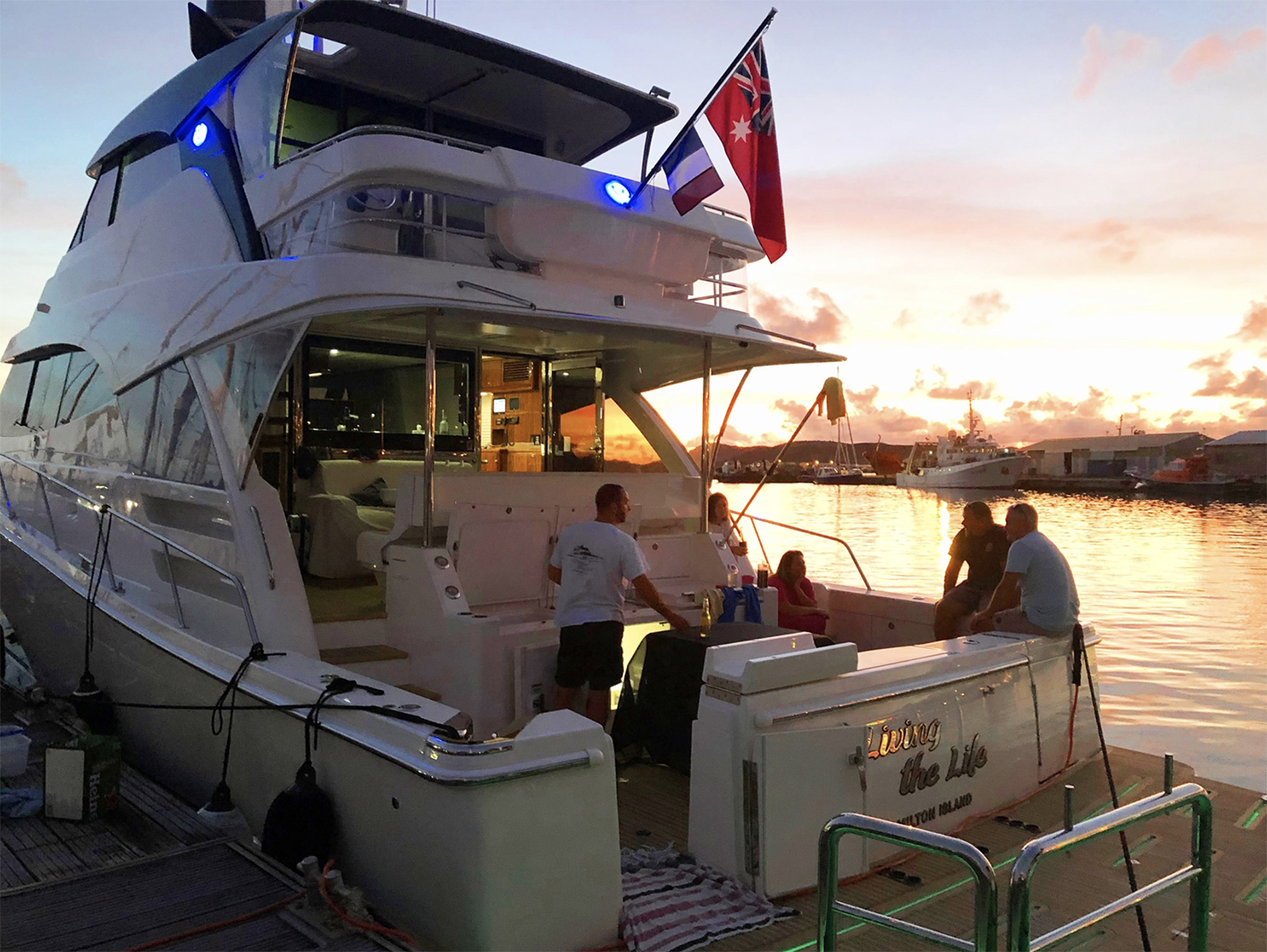 Across the Pacific New Caledonia nights light up the Flemings' Riviera 68 Sports Motor Yacht