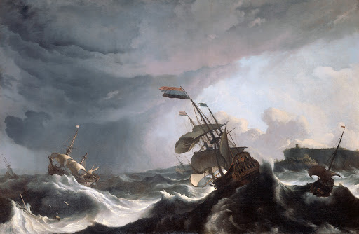 The Spirit of Sailing and The Sea - Robinson Crusoe - ships in storm