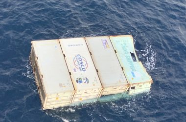 Five shipping containers wash ashore near Norah Head