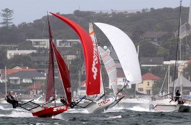 18ft Skiffs: The Day the Winds Blew 25-knots