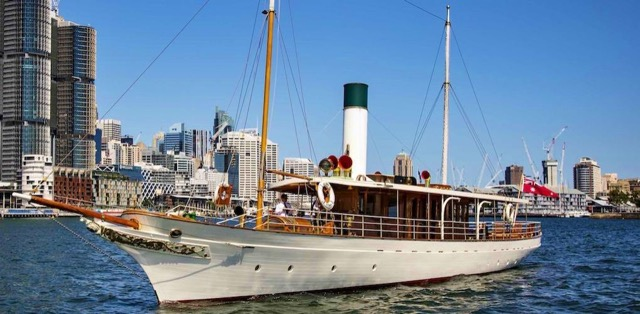 The 88-foot steam yacht Ena designed by Walter Reeks and launched in 1900