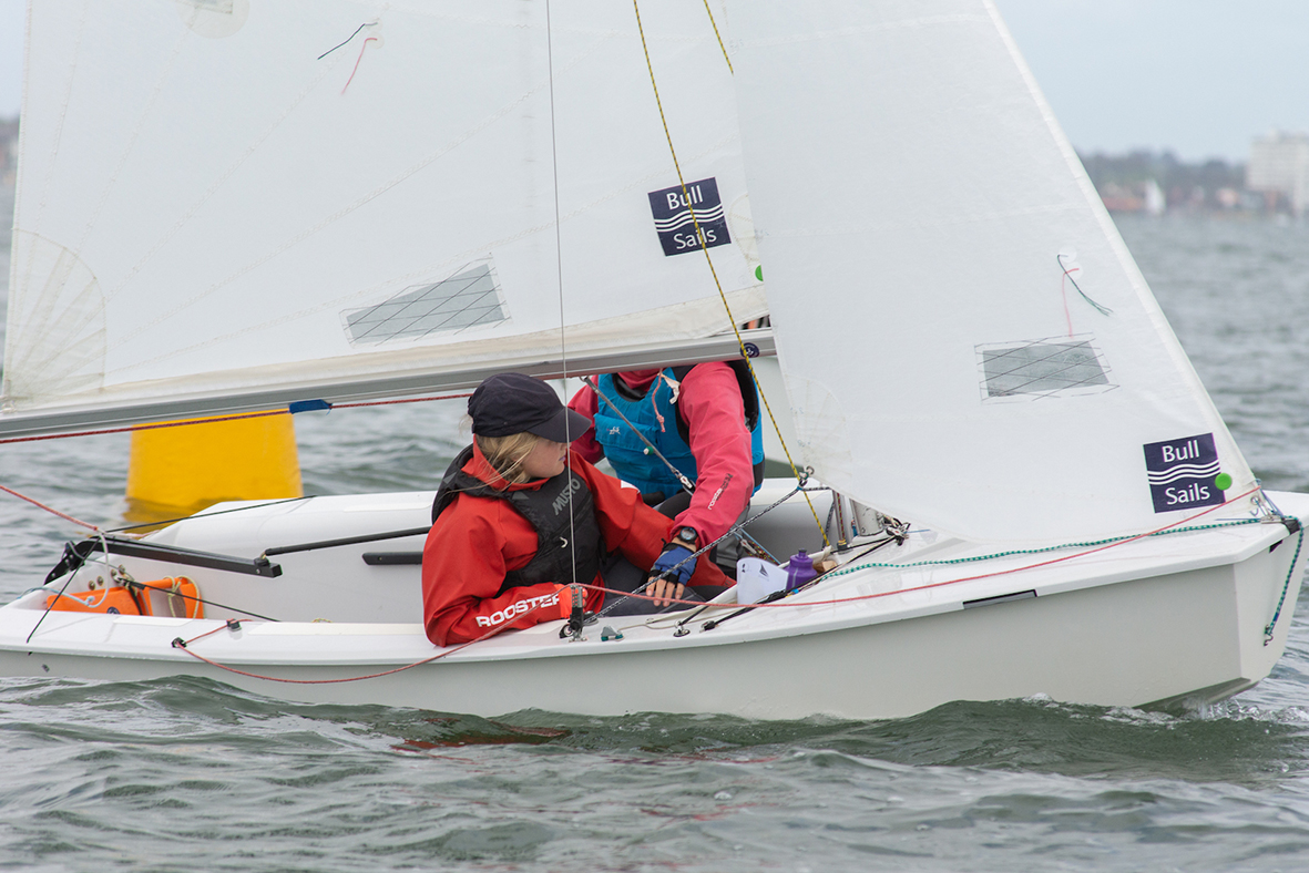 The northern end of Port Phillip provides great tactical racing for the International Cadet - Photo Damian Paull