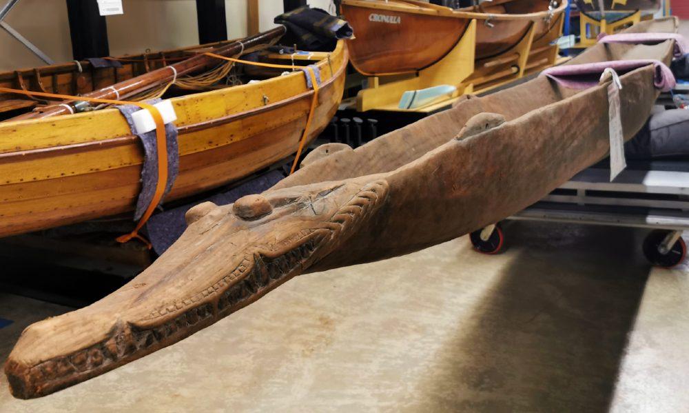 Sepik River dugout canoe at ANMM