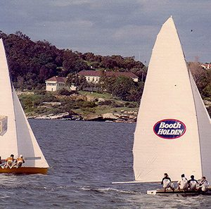 18 footers Booth Holden and Century Battery work into Rose Bay