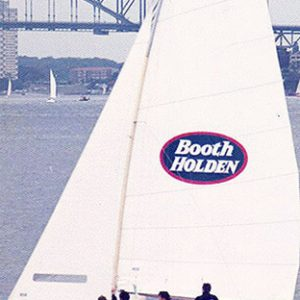 18 foot skiff Booth Holden on Sydney Harbour