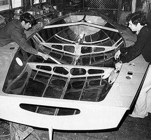 18 foot skiff Booth Holden under construction