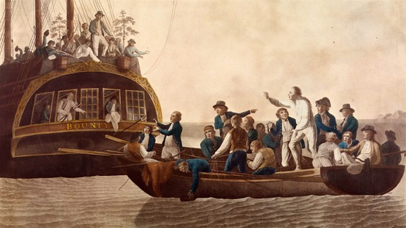 HMS Bounty Bligh cast adrift by mutineers