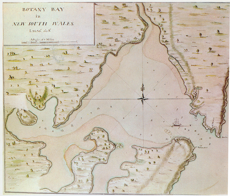 Captain Cook's chart of Botany Bay drawn in collaboration with Midshipman Isaac Smith